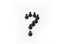 Black Pawn Chess Pieces In A Q...