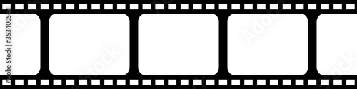 Film strip seamless background in flat style Fototapet