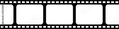 Canvastavla Film strip seamless background in flat style