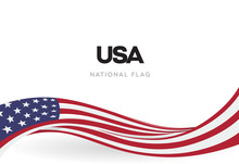 The USA Waving Flag Banner. Th...
