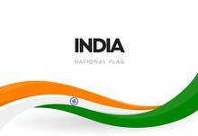 Indian Waving Flag Banner. Ind...