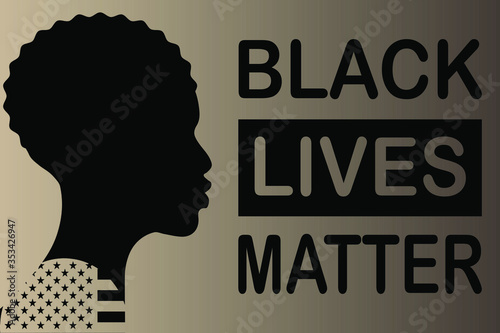 Vector illustration with the text Black Lives Matter Tapéta, Fotótapéta