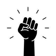 Fist Hand Power Logo. Protest ...