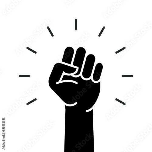 Fotomural Fist hand power logo