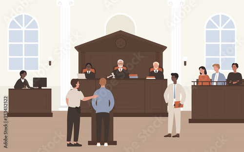 Photo People in Court vector illustration