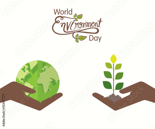 Obraz world environment day banner design - fototapety do salonu