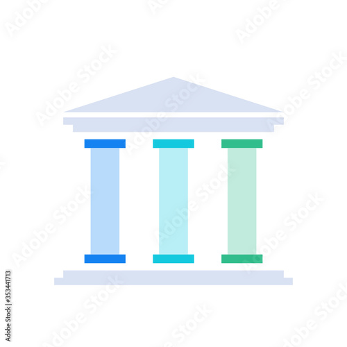 Three column diagram. Clipart image isolated on white background Wallpaper Mural