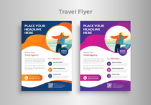 "Creative Website Poster, Flyer Or Template Design For Summer Holiday, Travel And Trip With Text Of ""Book Now Online"" ."