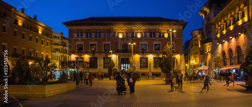 TERUEL, SPAIN - JANUARY 10, 2019: Mudejar style town,  Aragon County, Spain Canvas Print