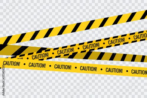 Vászonkép Caution tape stripe danger line