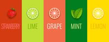 Fruit Mint Lime Lemon Or Grape...