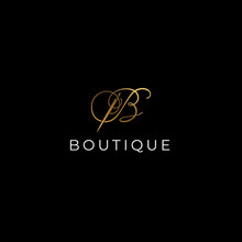 B Letter Boutique Logo Design ...