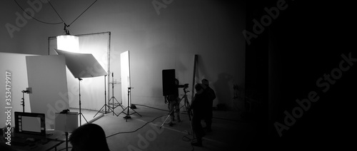 Fotografía Shooting studio for photographer and creative art director with production crew