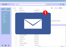 Email Message Inbox Notification On Blur Screen Background