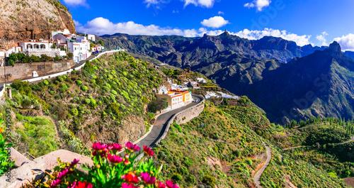 Obraz Most beautiful and highest mountain traditional village of Grand Canary Artenara - fototapety do salonu