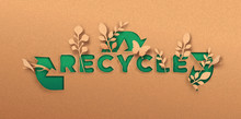Recycle Green Paper Cut Text Q...