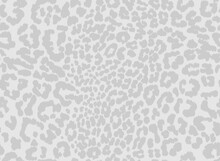 Leopard Print Seamless Pattern Design With Subtle Light Grey Textured Spots On Off White Background. Animal Repeat Surface Pattern Design.