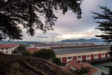 View Of Fort Mason Golden Gate National Recreation Area With The Golden Gate Bridge In The Background