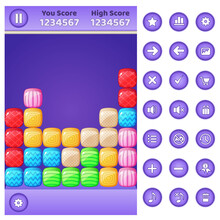 Gui Game Match 3 Block Puzzle ...