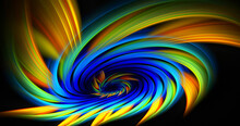 Abstract Color Lines Create 3D Rendering Patterns