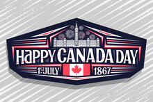 Vector Logo For Canada Day, Da...