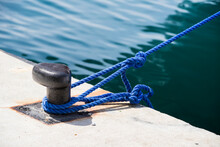 Mooring Post In The Port For F...