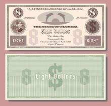 $ 8 Fictional US Banknote Dedi...