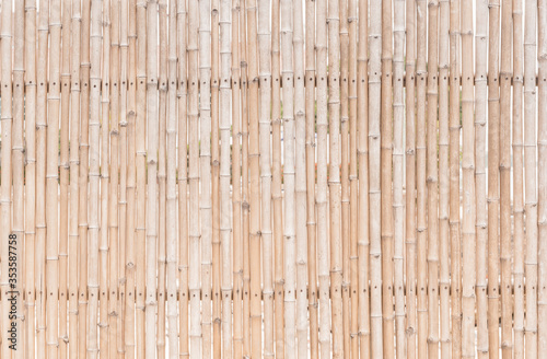 decorative old bamboo wood  background Canvas Print