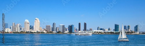 Panoramic View Of Downtown San Diego, California, USA Fotobehang