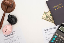 Top View Of Bankruptcy Papers ...
