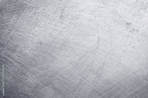 Obraz aluminium metal texture background, scratches on polished stainless steel. - fototapety do salonu
