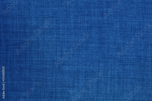 Fotografering Dark blue linen fabric cloth texture background, seamless pattern of natural textile