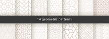 Set Of Geometric Seamless Patterns. Abstract Geometric  Hexagonal  Graphic Design Print 3d Cubes Pattern. Seamless  Geometric Cubes Pattern.