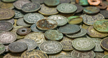 Pile Of Rusted Old Coins Aband...