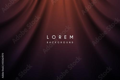 Obraz na plátně Dark color silk fabric curtain background