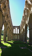 Archs  At Rievaulx Abbey Ruins...