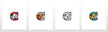 Tiger On Letter Logo Design C