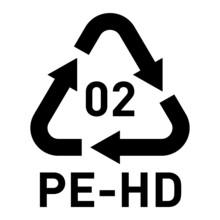 PE-HD 02 Recycling Code Symbol...