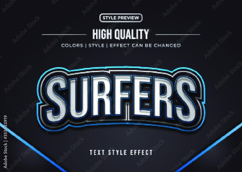 Fototapeta 3d Gaming Text Style Effect Team Identity Sticker