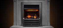 Home Gas Fireplace With Backli...