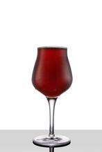 Red Ale Beer In Tulip Wineglas...