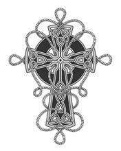 Celtic Cross In Ropes Tattoo I...