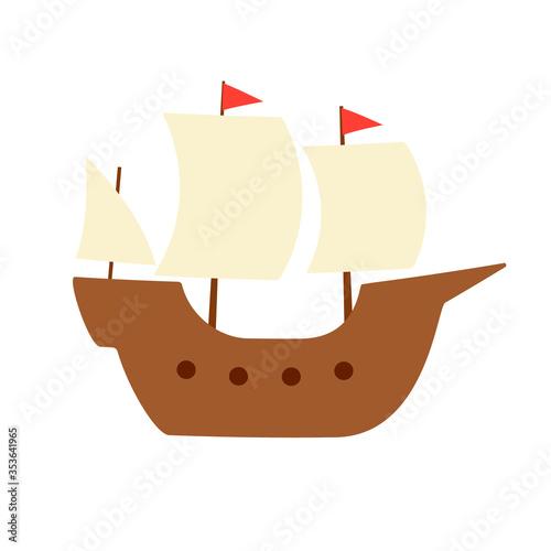 Carta da parati Mayflower ship simple icon