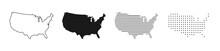USA Map. USA Vector Icons. Ame...