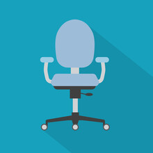 Swivel Office Chair Icon- Vect...