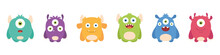 Set Of Cute Monsters. Cartoon ...