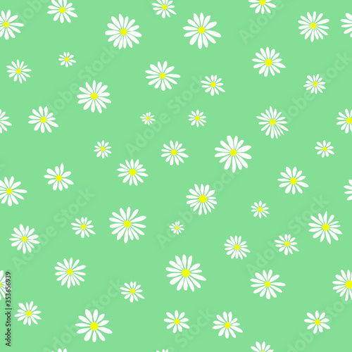 Fotografie, Tablou Daisies Pattern for clothes Graphic Vector Print