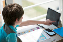 Nine Years Old Child Studying ...