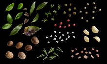 Herbs And Spices Isolated On B...