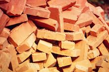 Clay Handmade Bricks. Abstract...
